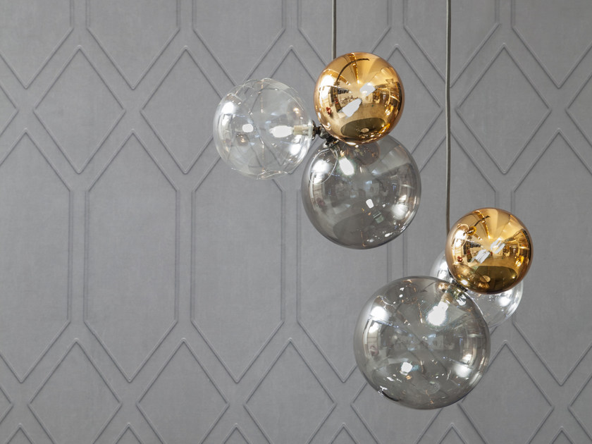LED glass pendant lamp ATOMO   Pendant lamp by Tonin Casa