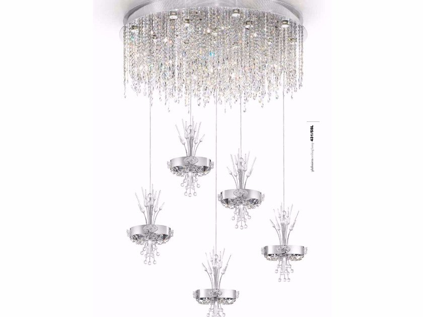 Metal pendant lamp with Swarovski® Crystals ELEGANCE | Pendant lamp with Swarovski® Crystals - IDL EXPORT