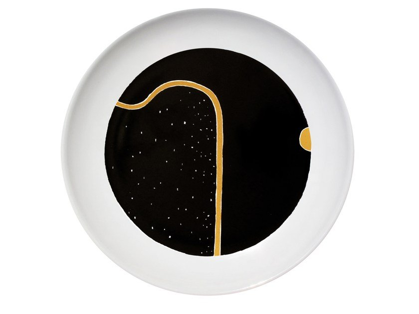 Ceramic dinner plate PENUMBRA by Kiasmo