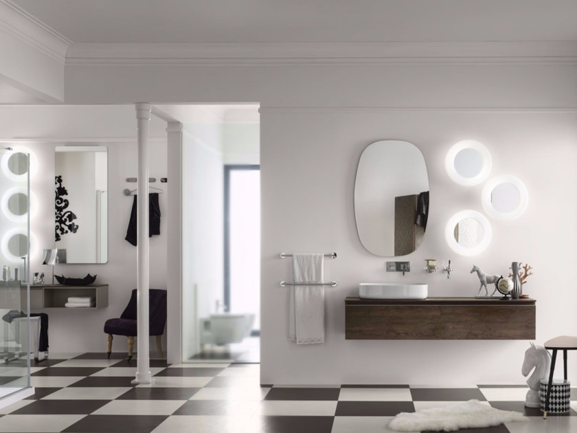 Bathroom cabinet / vanity unit PERFETTO - Composition 1 - INDA®