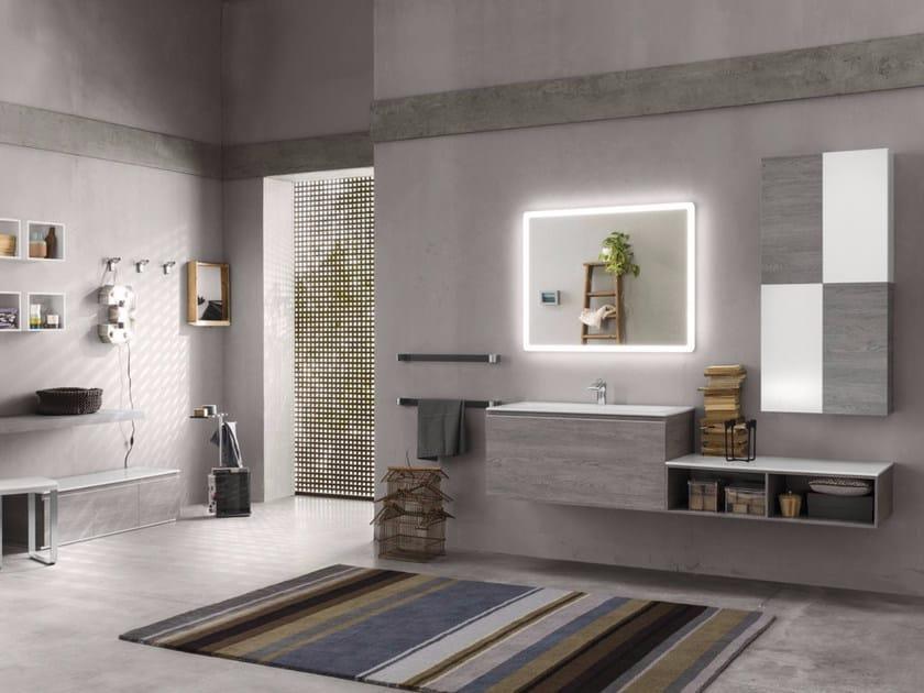 Bathroom cabinet / vanity unit PERFETTO - Composition 2 - INDA®