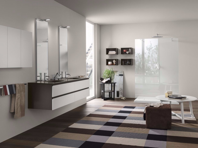 Bathroom cabinet / vanity unit PERFETTO - Composition 3 - INDA®