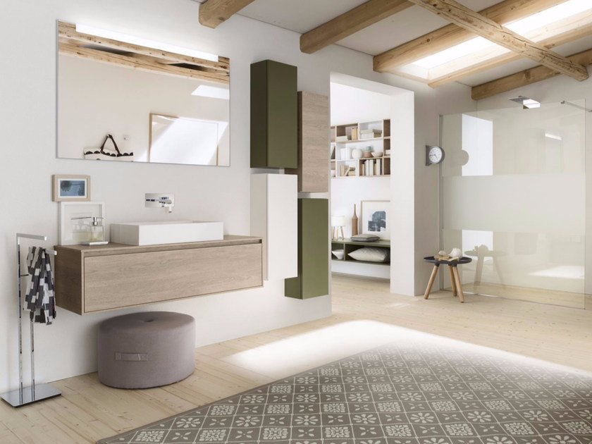 Bathroom cabinet / vanity unit PERFETTO+ - Composition 3 - INDA®