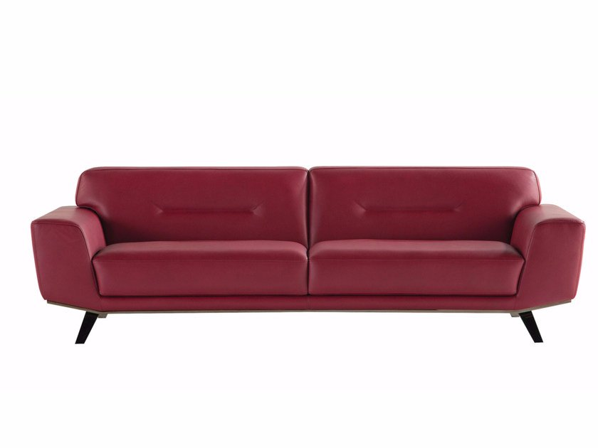3 seater leather sofa PERLE - ROCHE BOBOIS