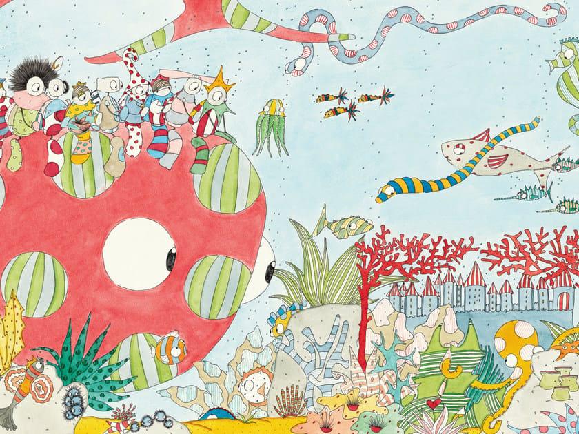 Kids wallpaper PESCE GIGANTE ROSA - Wallpepper