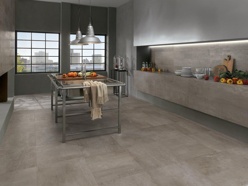 Full-body porcelain stoneware wall/floor tiles PETITOT SILEX - NOVOCERAM