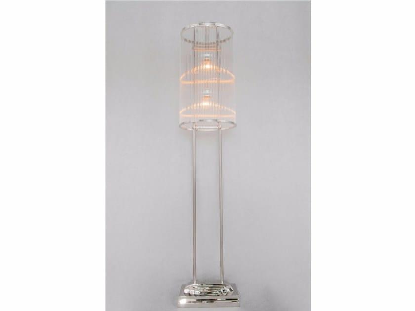 Lampada da terra a luce diretta fatta a mano in nichel PETITOT II | Lampada da terra in nichel - Patinas Lighting