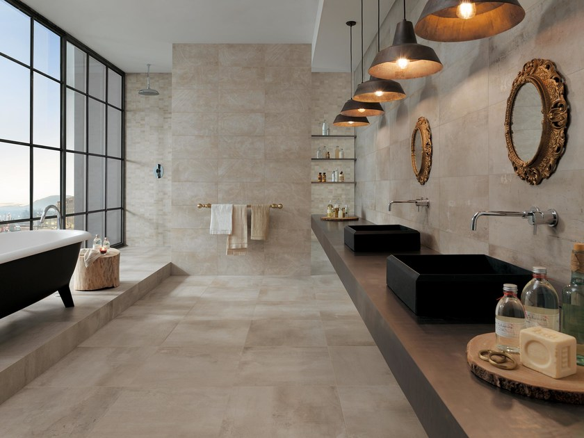 Full-body porcelain stoneware wall/floor tiles PETITOT ECRU - NOVOCERAM