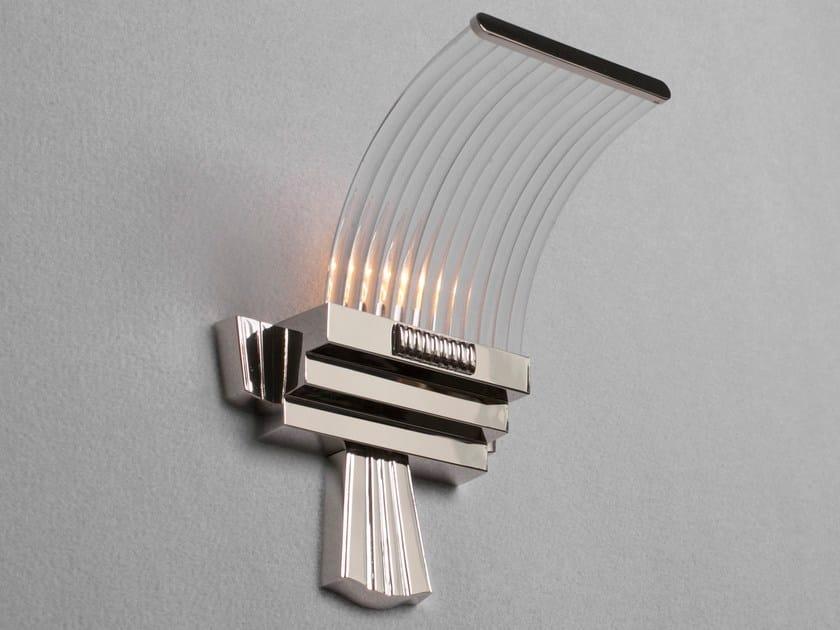 Applique a luce diretta fatta a mano in metallo in stile classico PETITOT XV | Applique in nichel - Patinas Lighting