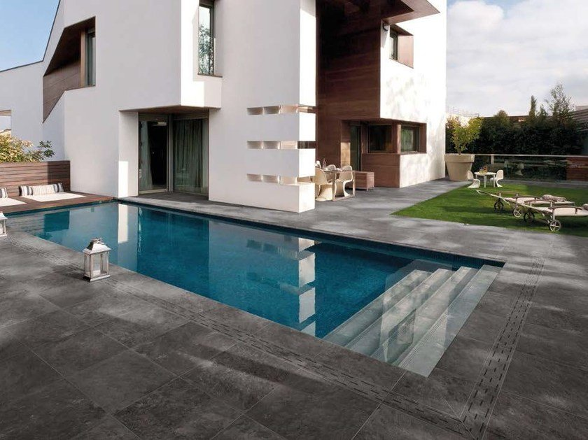Porcelain stoneware outdoor floor tiles with stone effect PETRA SOLIS 20 MM | Outdoor floor tiles - Panaria Ceramica