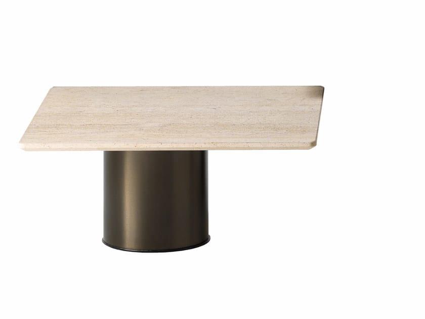 Square stone coffee table PETRA | Square coffee table - Arketipo