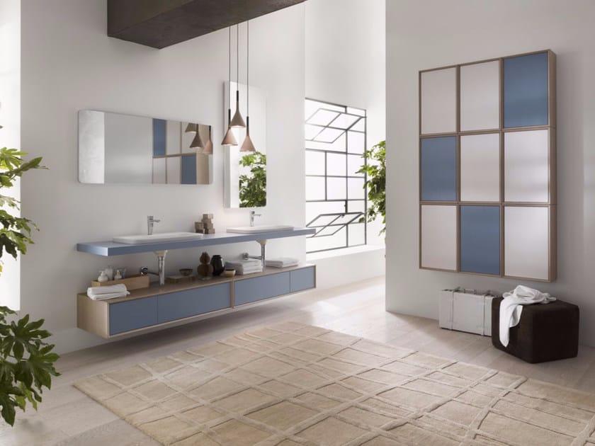Laminate bathroom cabinet / vanity unit PFS - Composizione 2 - INDA®