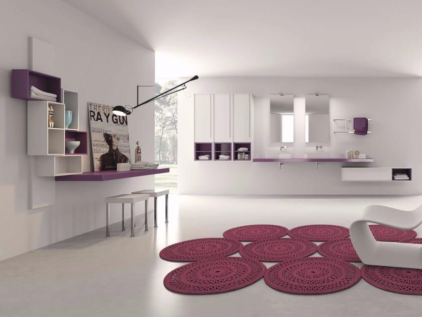 Laminate bathroom cabinet / vanity unit PFS - Composizione 3 - INDA®