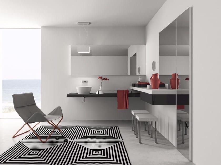 Laminate bathroom cabinet / vanity unit PFS - Composizione 4 - INDA®