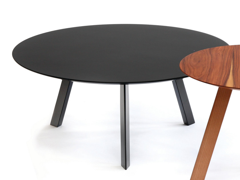 Lacquered round MDF bistro side table PIA | Lacquered coffee table by HMD INTERIORS