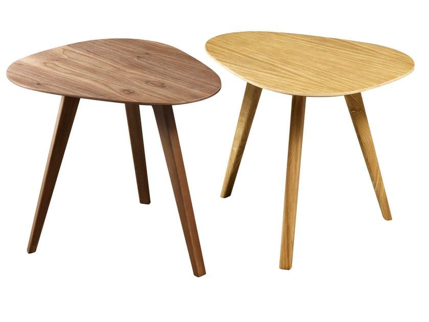 Wood veneer side table PIA | Wood veneer coffee table by HMD INTERIORS