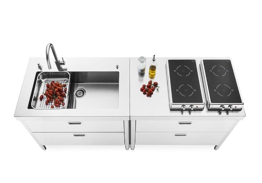 Piano cucina acciaio piano cucina acciaio with piano cucina acciaio ipm arredi per cucine with - Cucine alpes inox prezzi ...