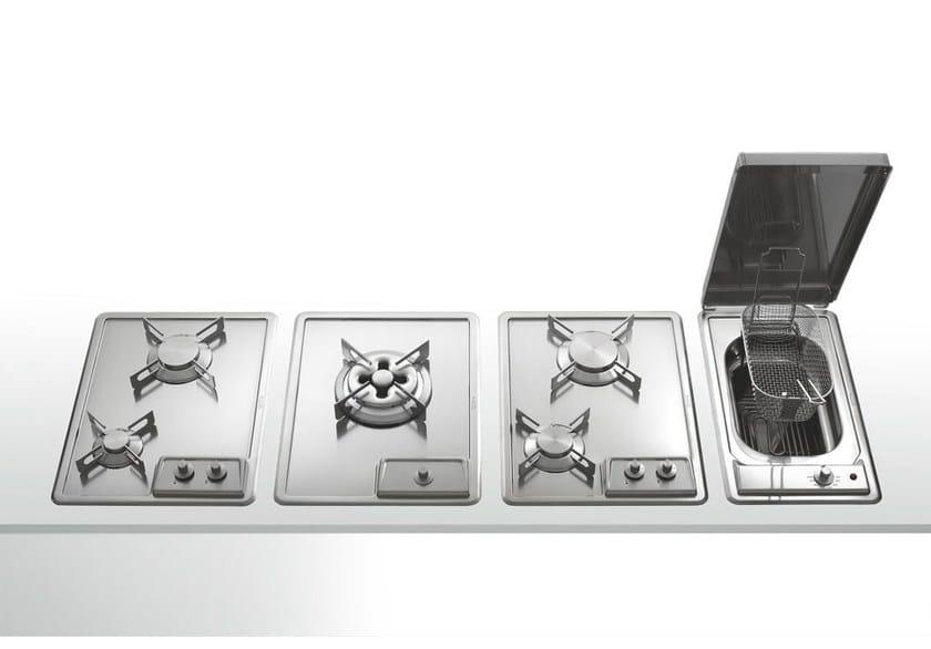 Piano cottura a gas a induzione da incasso in acciaio inox for Piani di piano rambler