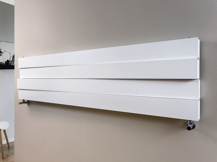 Horizontal wall-mounted aluminium radiator PIANO MOVE | Horizontal radiator - RIDEA
