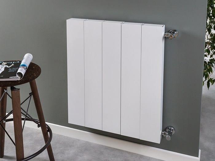 Wall-mounted aluminium radiator PIANO PLAIN by RIDEA