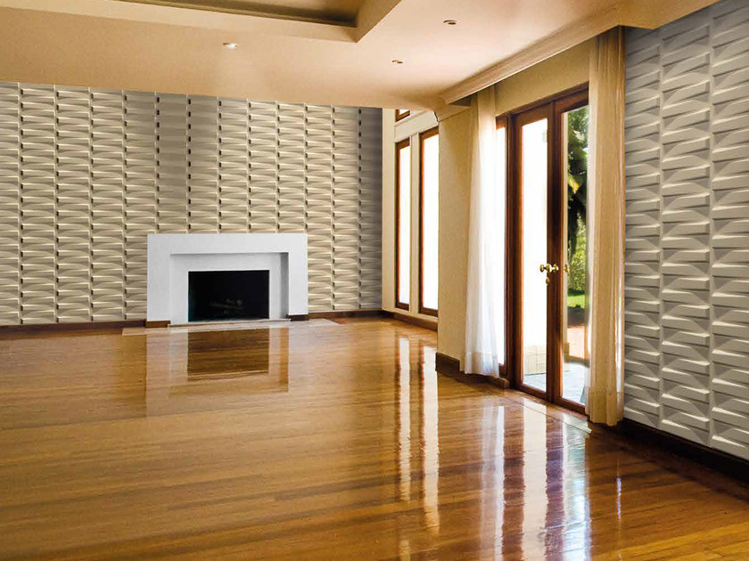 Bamboo fibre 3D Wall Cladding PIANO by RECORD - BAGATTINI