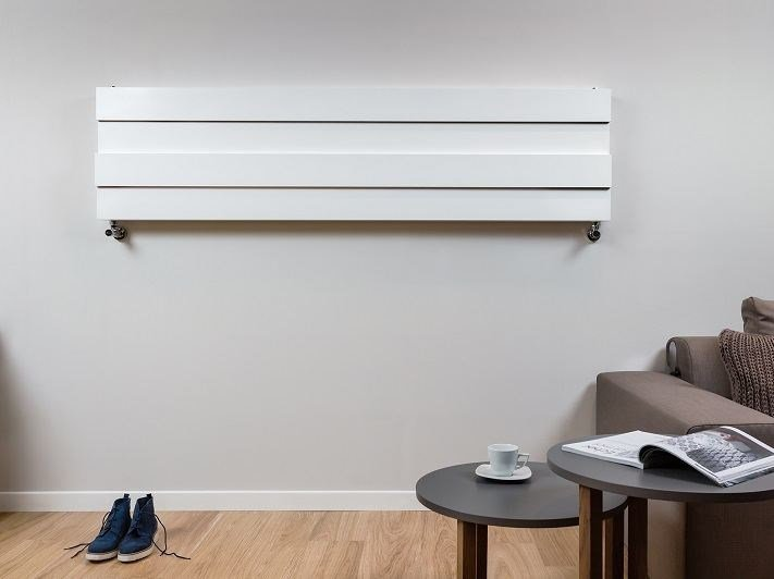Horizontal wall-mounted aluminium radiator PIANO SHIFT | Horizontal radiator - RIDEA