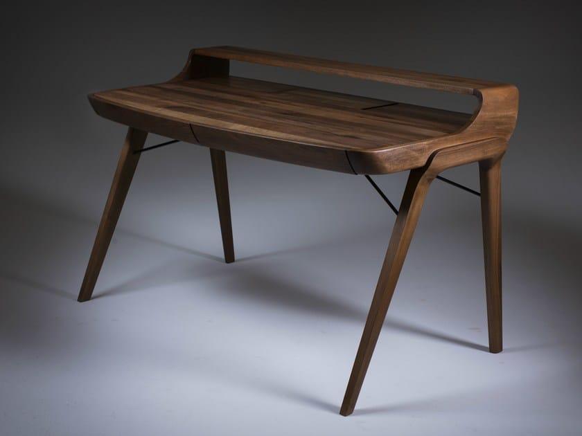 Rectangular wooden writing desk with drawers PICARD | Writing desk - Artisan