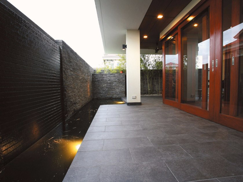 Porcelain stoneware outdoor floor tiles with stone effect PIETRA BLUE | Outdoor floor tiles - Casalgrande Padana