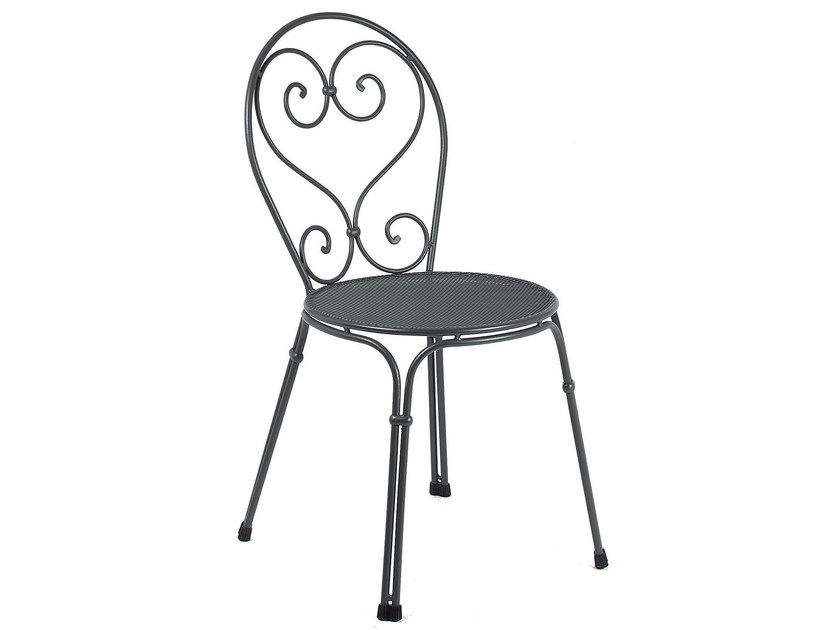 Stackable steel garden chair PIGALLE | Chair - EMU Group S.p.A.
