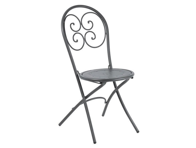 Folding steel garden chair PIGALLE | Folding chair - EMU Group S.p.A.