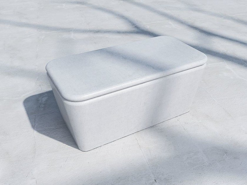 Backless fiber-reinforced concrete Bench PILLOW | Fiber-reinforced concrete Bench by SIT