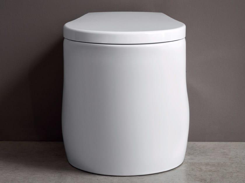 Floor mounted ceramic toilet PILLOW | Floor mounted toilet by Nic Design