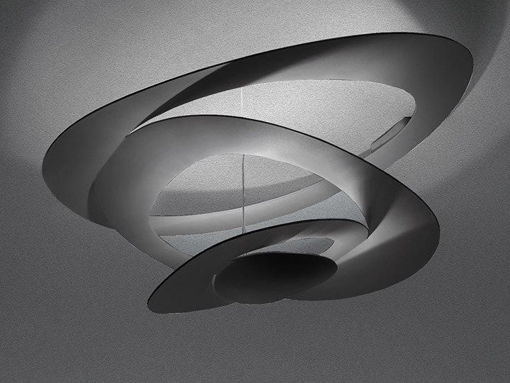 Indirect light aluminium ceiling lamp PIRCE | Ceiling lamp - Artemide