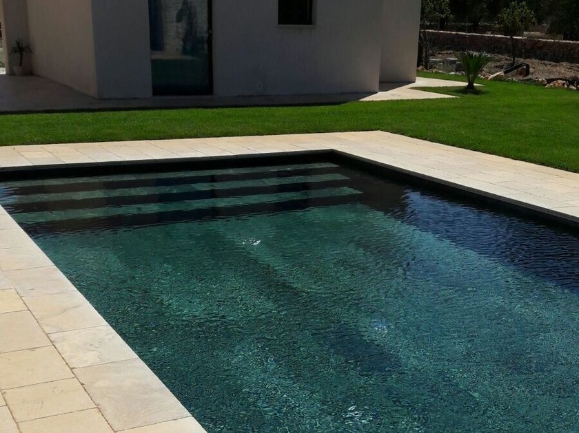Infinity In-Ground stone swimming pool In-Ground swimming pool - INDALO PISCINE