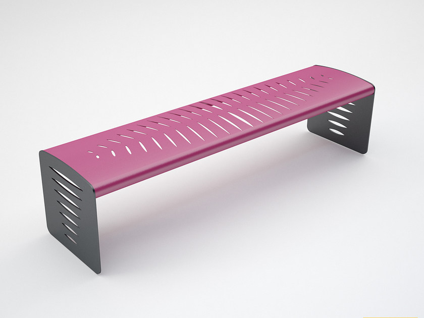 Backless steel Bench PIUMA | Bench - CITYSì