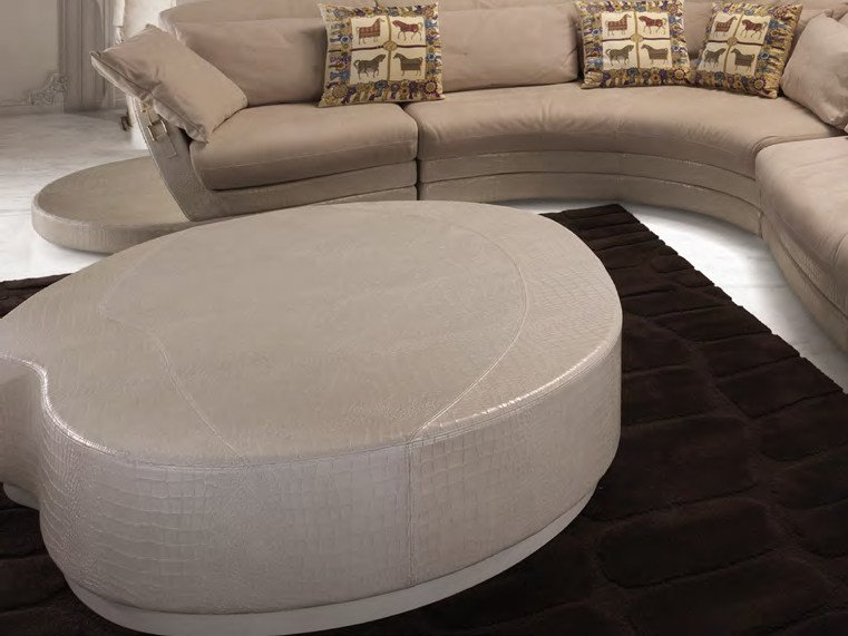 Low leather coffee table for living room PLACE ART | Coffee table - Formitalia Group