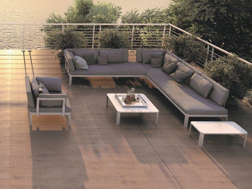 Corner sectional garden sofa PLANE FOR OUT | Sectional sofa - iCarraro italian makers