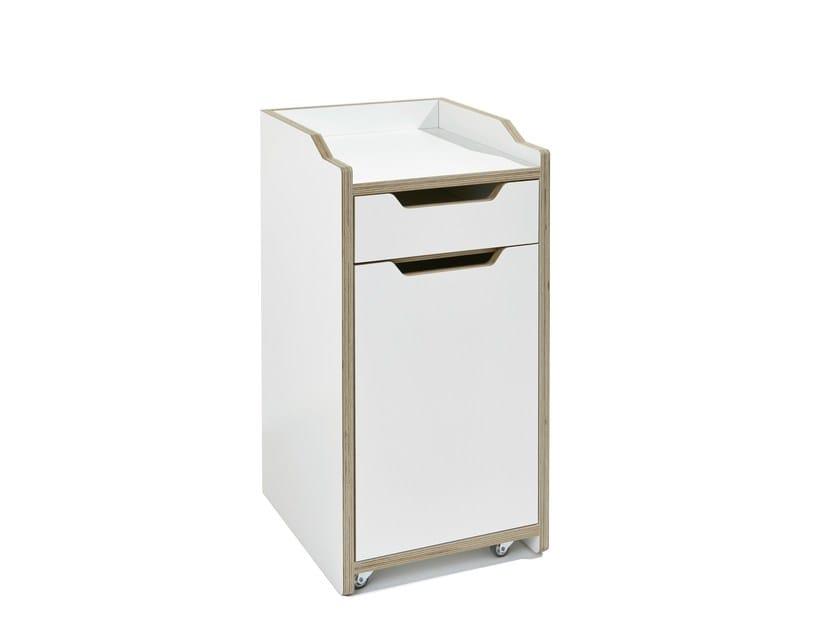 Wooden office drawer unit with casters PLANE - Müller Möbelwerkstätten