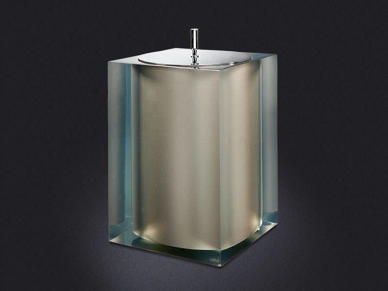 Resin bathroom waste bin PLATINUM GLOSS | Bathroom waste bin - Vallvé Bathroom Boutique