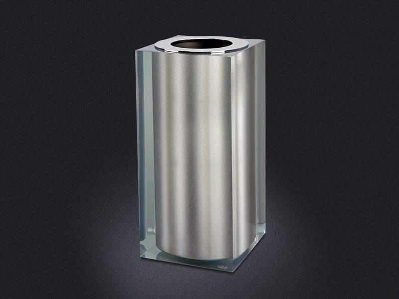 Resin bathroom waste bin PLATINUM GLOSS SMALL | Resin bathroom waste bin - Vallvé Bathroom Boutique