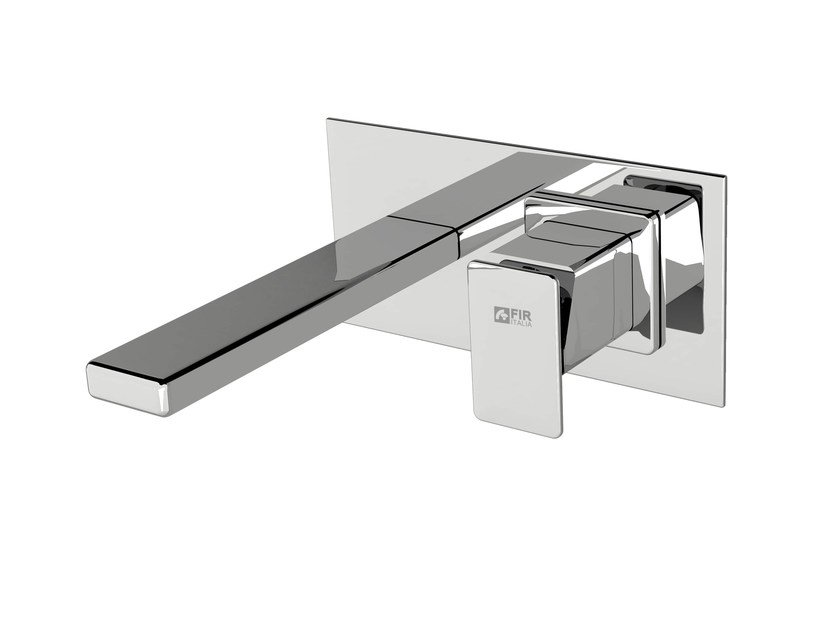 Wall-mounted washbasin mixer with plate PLAYONE 85 - 8510108 by Fir Italia