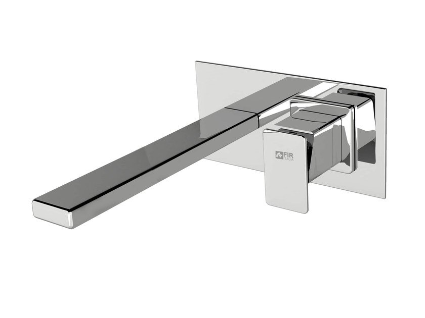 Wall-mounted washbasin mixer with plate PLAYONE 85 - 8510208 by Fir Italia