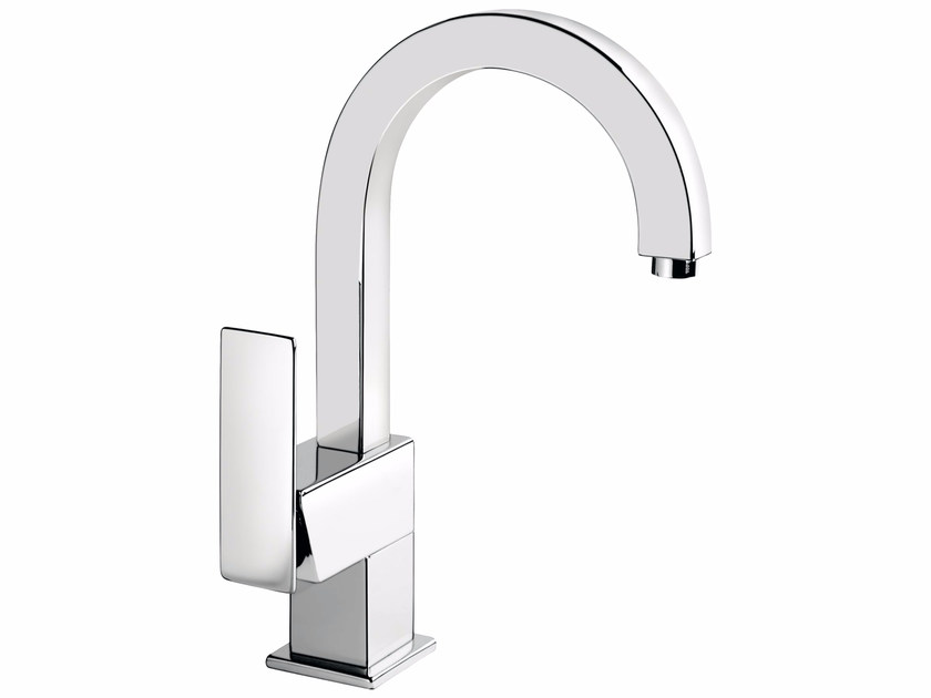 Countertop washbasin mixer with adjustable spout without waste PLAYONE 85 - 8514682 - Fir Italia