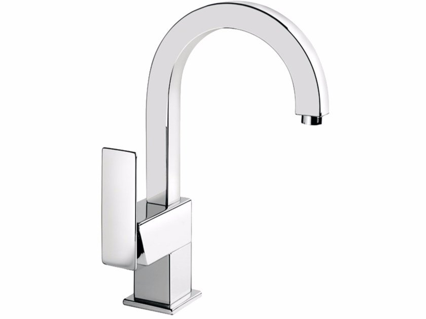 Countertop single handle washbasin mixer with adjustable spout PLAYONE 85 - 8514685 - Fir Italia