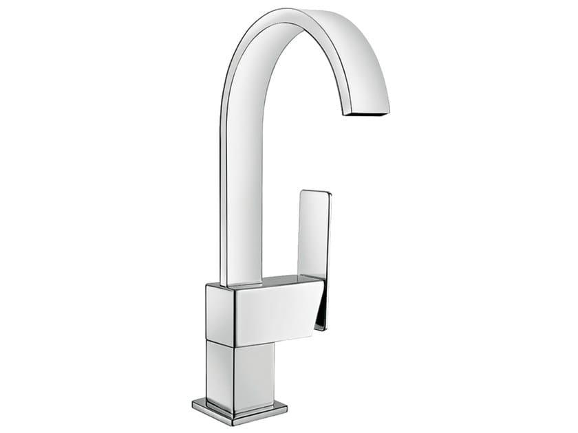 Chrome-plated countertop single handle washbasin mixer PLAYONE 85 - 8514705 by Fir Italia