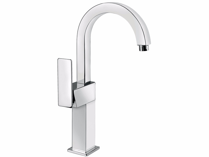 Countertop single handle washbasin mixer with adjustable spout PLAYONE 85 - 8514762 - Fir Italia