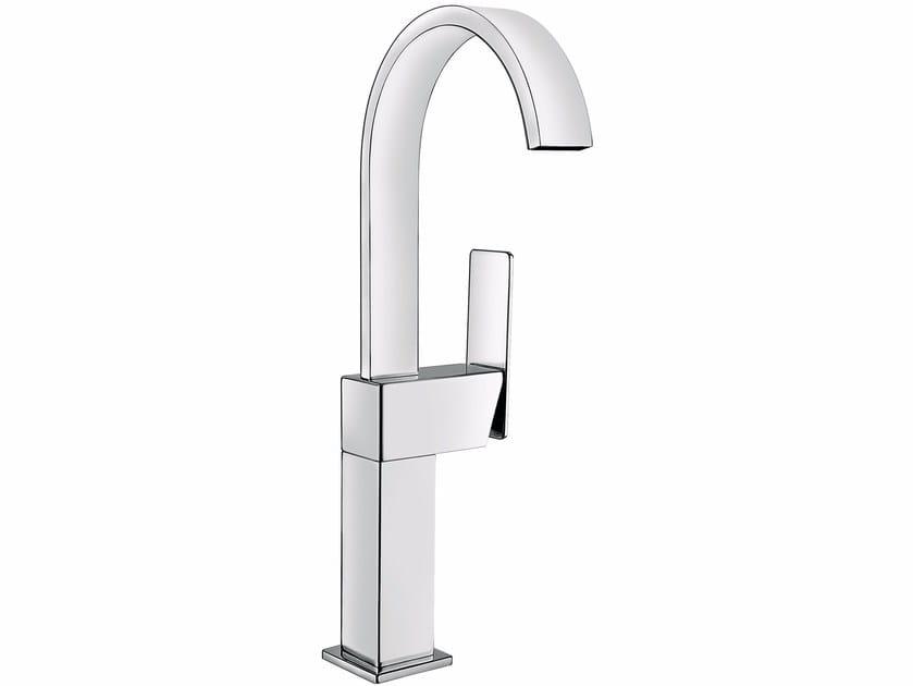 Countertop single handle washbasin mixer without waste PLAYONE 85 - 8514772 - Fir Italia