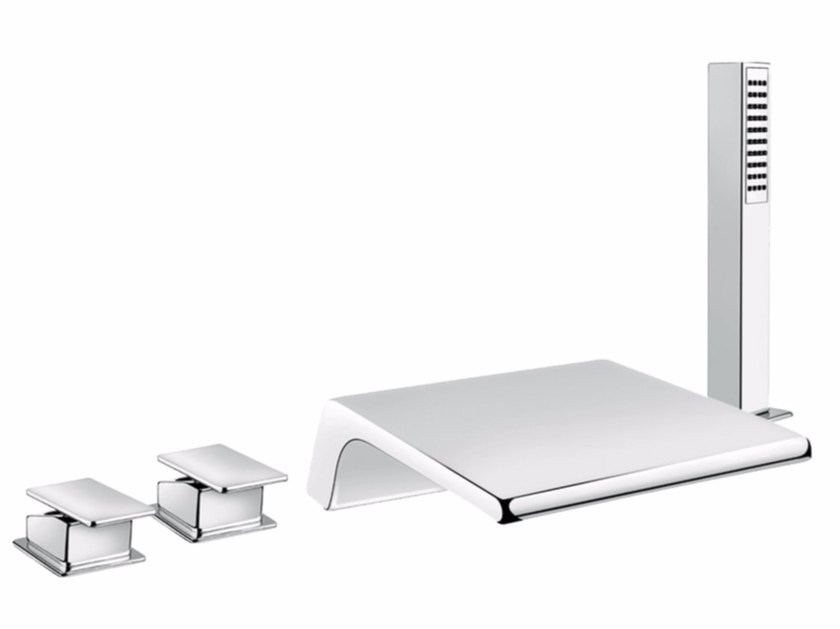 4 hole bathtub set with hand shower PLAYONE 85 - 8548092 - Fir Italia