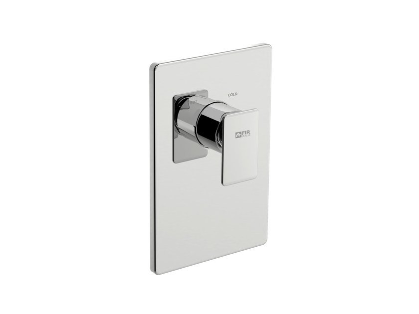Single handle shower mixer with plate PLAYONE 85 - 8550158 - Fir Italia