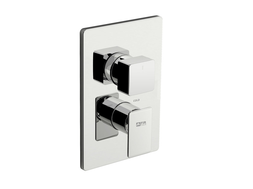 Shower mixer with diverter with plate PLAYONE 85 - 8550198 by Fir Italia